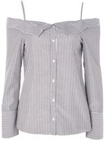 Topshop Stripe bardot shirt