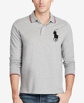 Polo Ralph Lauren Men's Long-Sleeve Mesh Big Pony Polo, a Macy's Exclusive Style