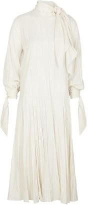By Malene Birger Bellidia cream fil coupe midi dress