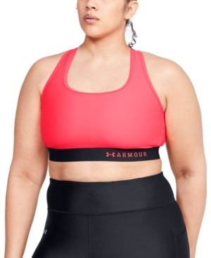 Under Armour Plus Size Armour Mid Crossback Sports Bra