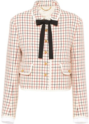 Miu Miu Checked Fitted Jacket
