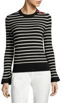 Tory Burch Kimberly Bell Sleeve Merino Wool Sweater