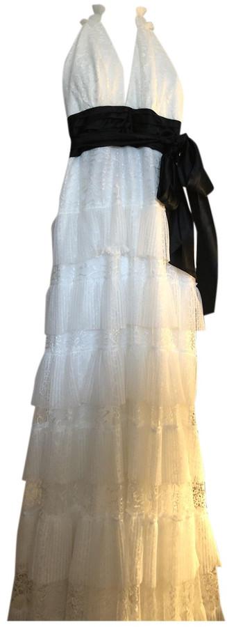 BCBGMAXAZRIA White Polyester Dresses