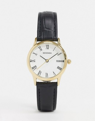 Sekonda faux croc leather watch exclusive to ASOS