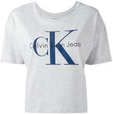 Calvin Klein Jeans shortsleeved logo T-shirt - women - Cotton - M