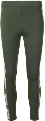 Mr & Mrs Italy logo side-stripe leggings