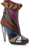 Rodarte Embossed Metallic Ankle Boots