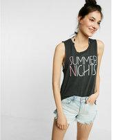 Express Summer Nights Step Hem Tank