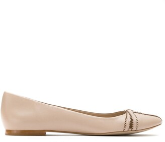 Sarah Chofakian Leather Ballerinas