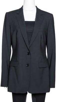 Dolce & Gabbana Black Stretch Wool Tailored Blazer L