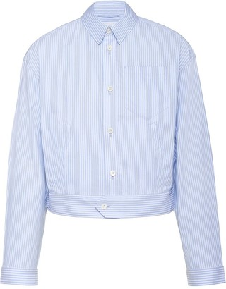 Prada Striped Boxy Shirt Jacket