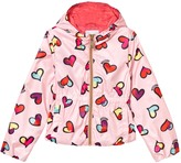 Moschino Pink All Over Heart Print Hooded Jacket