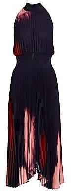 A.L.C. Women's Renzo Tie Dye Pleated Halter Dress