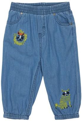 Stella McCartney Kids Chambray Pants W/ Embroidered