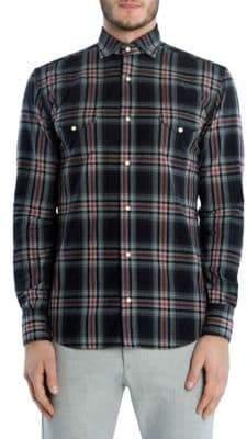 Eleventy Flannel Texas Sport Shirt