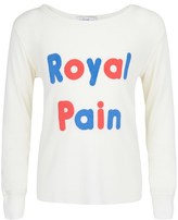 Wildfox Couture Cream Royal Pain Long Sleeve Tee