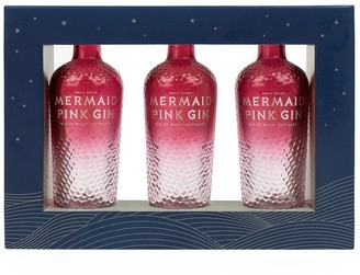 Isle Of Wight Distillery Mermaid Pink Gin Gift Pack 3 X 50ml