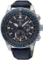 Seiko Prospex Solar Men's Blue Chronograph Strap Watch