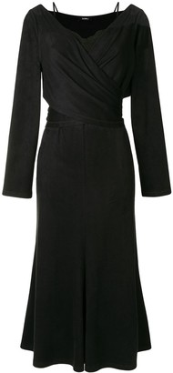 GOEN.J Lace-Trimmed Wrap Dress