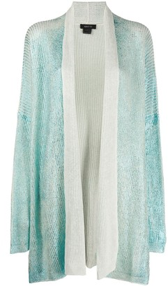 Avant Toi Metallic Sheen Oversized Cardigan