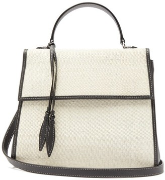 Hunting Season The Top Handle Leather And Canvas Shoulder Bag - Womens - Black