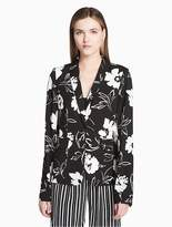 Calvin Klein Floral Single Button Blazer