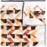 Canali geometric pattern scarf