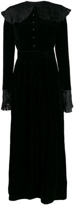 Nina Ricci Pre-Owned 1970s ruffled trim maxi dress
