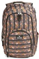 Volcom 'Top Notch' Floral Print Backpack - Black