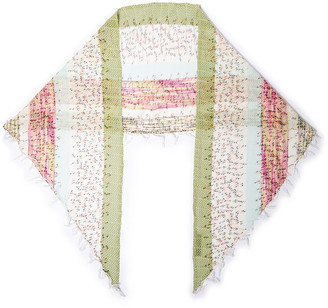 Missoni Frayed Printed Crochet-knit Scarf