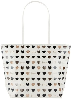 Harrods Glitter Hearts Tote Bag