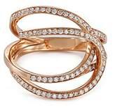 Repossi 'La Ligne C' diamond 18k rose gold double hoop ring