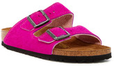 Birkenstock Arizona Genuine Calf Hair Classic Footbed Sandal - Narrow Width - Discontinued