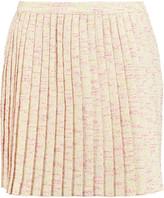 Raoul Pleated cotton-blend tweed mini skirt