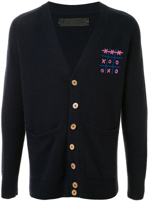 The Elder Statesman embroidered V-neck cardigan