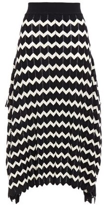 Stella McCartney Pointelle-trimmed Intarsia Wool Midi Skirt