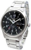 Seiko Men's 5 Automatic SNZG13K Silver Stainless-Steel Automatic Watch with Dial
