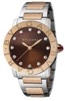 Bvlgari Diamond, 18K Rose Gold & Stainless Steel Bracelet Watch