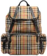 Burberry Check Cotton & Nylon Backpack