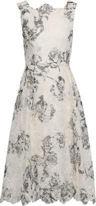 Erdem Mara Printed Broderie Anglaise Silk Dress