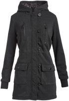 Yoki Women's Non-Denim Casual Jackets CHA - Charcoal Button-Up Hooded Anorak - Women