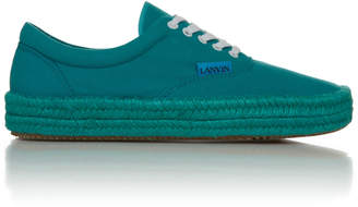 Lanvin Cotton-Canvas Espadrille Sneakers