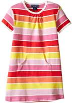 Toobydoo Short Sleeve Dress w/ Pink/Yellow/Orange (Infant/Toddler)