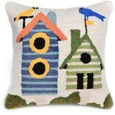 Liora Manné Birdhouses Indoor/Outdoor Throw Pillow in Cream
