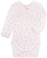 Petit Bateau Newborn baby girls long-sleeved print bodysuit