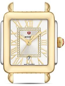 Michele Deco Madison Mid Two-Tone Diamond Dial Watch Head, 29mm x 31mm