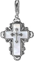American West Sterling Silver Mother-of-Pearl Cross Enhancer