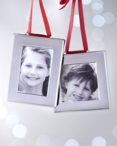 Horchow Silver-Plated Frame Christmas Ornaments
