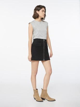 Frame Suede Patch Skirt