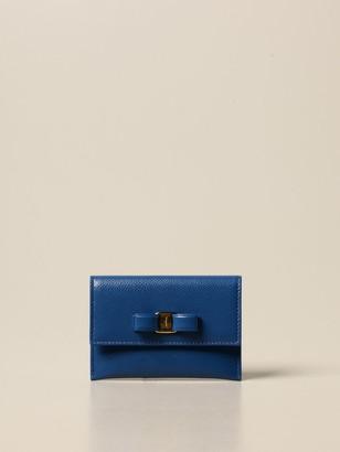 Salvatore Ferragamo Credit Card Holder In Leather